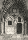 The Chapter House, Westminster Abbey, London. Antique engraved print 1817